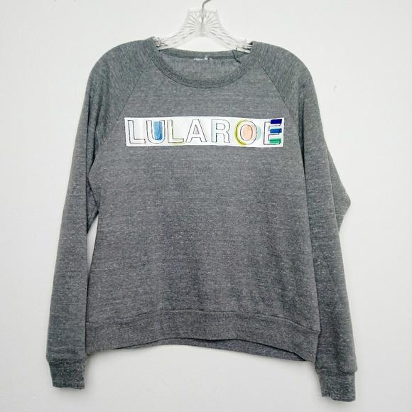 LuLaRoe Tops - Lularoe Rainbow Graphic Logo Sweatshirt Fleece L